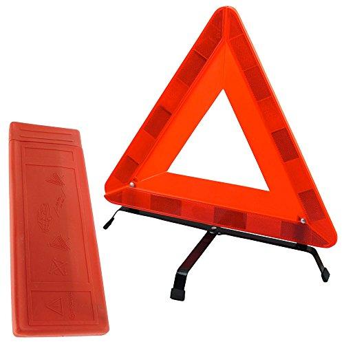 TekBox voiture avertissement Triangle de sécurité pliable en étui de protection en plastique/Rouge Réfléchissant Hazard UE Panne d'urgence pour voiture, van, camion, camion