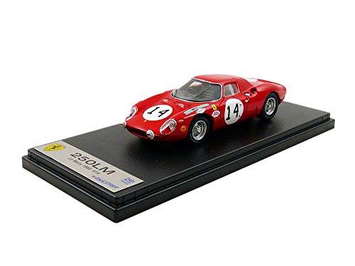 LOOKSMART–Ferrari 250LM Le Mans 1968, lslm041, Rojo, en Miniatura (Escala 1/43