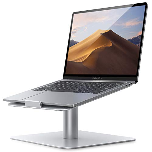 Laptop Stand, Lamicall Universal Laptop Riser - 360 Rotating Ergonomic Desktop Stand Holder for 10'~17.3' Notebooks, New 2020 MacBook Pro, MacBook Air, Dell, HP, Samsung, Lenovo, more Devices - Silver