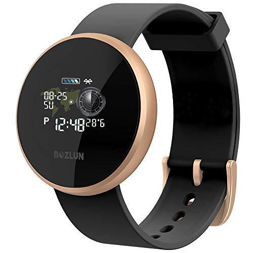 Smart Horloge Vrouwen Mannen Horloge Sport Alarm Klok Cardio Stappenteller Calorie Call Tekst Herinnering GPS Waterdichte IP68 Armband Compatibel Android iPhone Goud