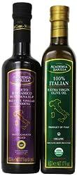 Academia Barilla 100% Italian Extra Virgin Olive Oil and Balsamic Vinegar of Modena Pack