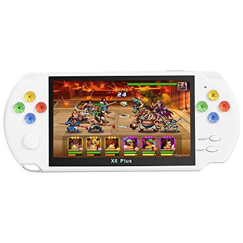 5,1-Zoll-LCD-Bildschirm Retro-Arcade-Handheld-Spielekonsole bogenförmiges Design Farbkristallknopf...
