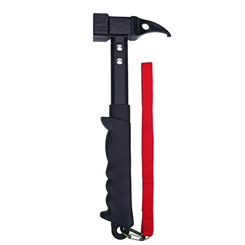Topsale-ycld multifunction Outdoor Framing Hammer cast Steel High Strength Head Rubber Handle Shock Reduction Grip with Lanyard Nail Puller Camping