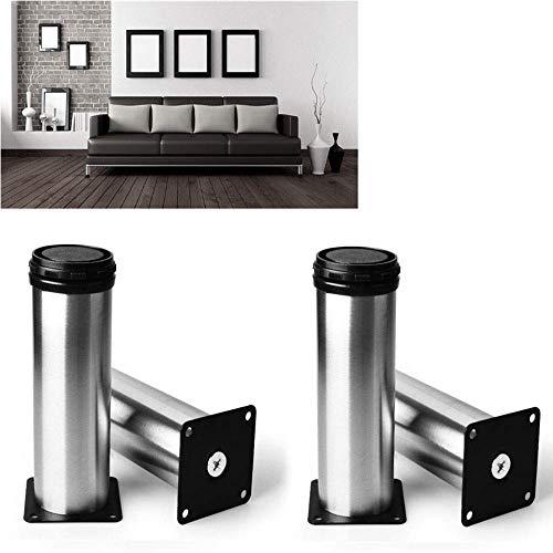 ZXL Meubelpoten van roestvrij staal, voeten voor banken, salontafel, tv-meubel, bedpoten verstelbaar, 4 sets