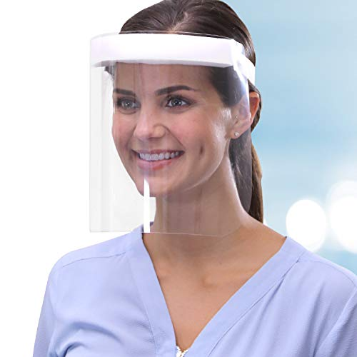 Free Face Long Face Shield by BulbHead - Protective Face Shield - Lightweight & Transparent Face Shield with Wraparound Anti-Fog Design - Adult Face Shield - Kids Face Shield - Adjustable Band