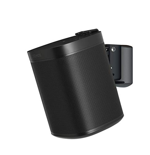 SoundXtra Soporte de Pared para Sonos One, One SL y Play:1 - Negro (V2)