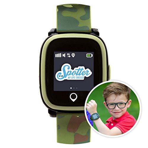 Spotter GPS Uhr Kinder mit einzigartigem Design, Anruffunktion, SOS-Alarm und mehr, Online und App, Keine Abonnementgebühren