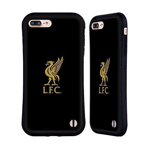 Head Case Designs Oficial Liverpool Football Club Logotipo De Oro En Negro Pájaro Hígado Carcasa híbrida Compatible con Apple iPhone 7 Plus/iPhone 8 Plus