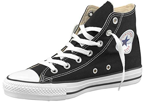 Converse All Star Hi Canvas Zapatillas Negras-UK 8.5