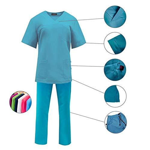 ROGER CON209 Uniforme Sanitario Conjunto Pijama Microfibra Anti-Olor Unisex Casaca y pantalón (Varias Tallas y Colores)
