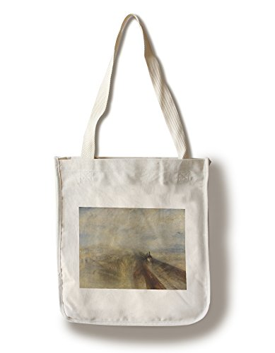 Rain, Steam and Speed - Masterpiece Classic - Artist: J.M.W. Turner c. 1844 (100% Cotton Tote Bag - Reusable)