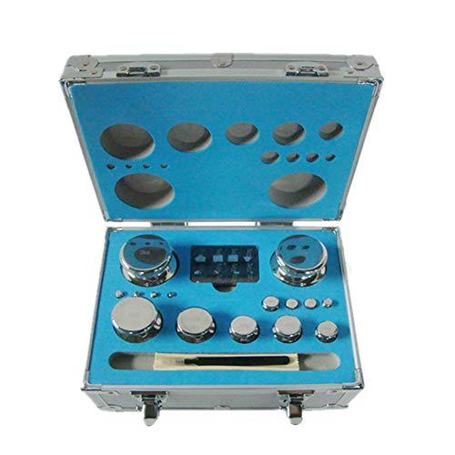 CGOLDENWALL - Juego de pesas de calibración para balanza digital (1 mg/2 kg)
