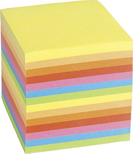 König & Ebhardt 8655603 farbige Ersatzeinlage für Zettelbox (9 x 9 x 9 cm, 700 Blatt farbig)