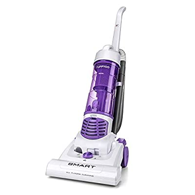 Puppyoo Bagless Upright Vacuum Cleaner with Attachments, 1200W Powerful Suction 2.9L Dust Cup Lightweight Portable Upright Vacuums for Carpet Hardwood Pet Hair-S6