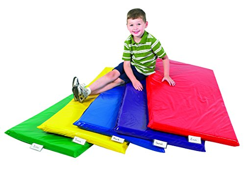 Children's Factory, Rainbow Rest Mats, Set - 5, Nap Mats for Homeschool/Montessori/School, Napping Floor Mats for Kids & Toddlers, Daycare Furniture