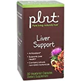 plnt Liver Support Contains Natural, NonGMO Botanicals Antioxidant That Supports Liver Health Gluten Dairy Free (90 Veggie Capsules)