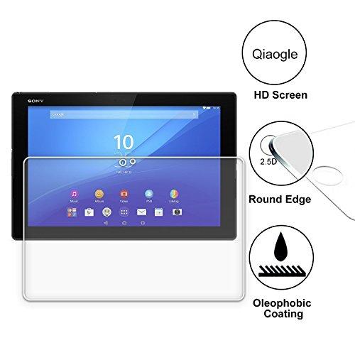 Qiaogle Display Gehärtetes Glas Schutzfolie für Sony Xperia Z4 Tablet LTE (10.1 Zoll) Schirm Schutz [mit 9H Härte * Ultra klar * Anti-Kratz]