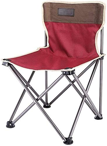 QIXUN Camping Stools Portable with Chair, Sturdy Durable Folding Chair Barbecue Chair Outdoor Chair Spring Chair Travel Chair,B