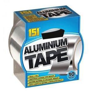 Zilver Aluminium Tape 48mm X 10 Meter Vele Gebruikers! Tijdelijke uitlaat pijp reparaties Achtergrondmateriaal in auto paneel reparaties Verzegelt verbindingen van verwarming en ventilatiekanalen.
