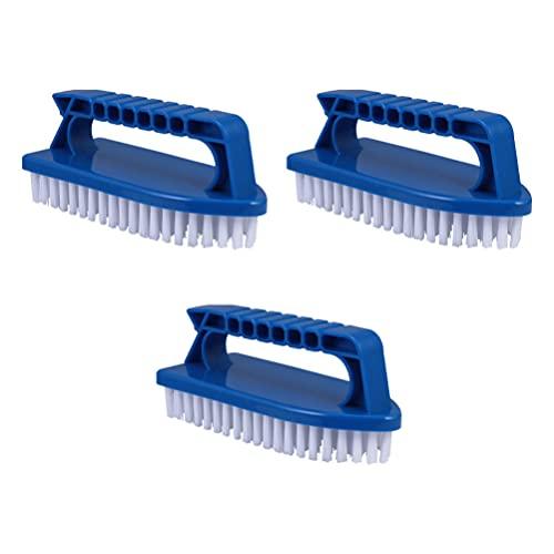 YARNOW 3 Piezas Cepillo de Limpieza Cepillo de Mano Cerdas Rígidas Flexibles para Baño Lavabo Alfombra Suelo Piscina