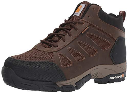 Carhartt Men's Lightweight Wtrprf Mid-Height Work Hiker Soft Toe CMH4180 Industrial Boot, Dark Brown Leather/Nylon, 15 W US