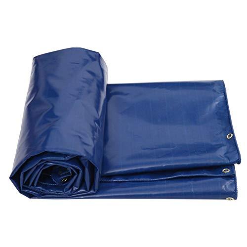 LHR Tarpaulin Waterproof Heavy Duty Truck Thick Canvas Canvas Waterproof Cloth Oil Shed Tarpaulin Waterproof Sunscreen Tarpaulin Outdoor Sun Shade Rain Oxford Cloth (Color : BLUE, Size : 7X5M)