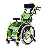 YIQIFEI Conducción en Silla de Ruedas para niños, sillas de Ruedas Plegables y livianas Coche Carro pequeño portátil para discapacitados Rueda autopropulsada para niños (Silla)