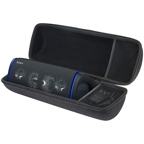 Aenllosi Dur Cas étui de Voyage Haousse Porter pour Sony SRS-XB43 | Enceinte Portable Extra Bass Bluetooth Stéréo (Noir,boîte Seule)