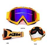 KOQIO Gafas de Motocross, Gafas de esquí, esquís panorámicos montañismo, Gafas de Playa y antiviento, aptas para Hombres y Mujeres Adultos al Aire Libre,Colorfilm