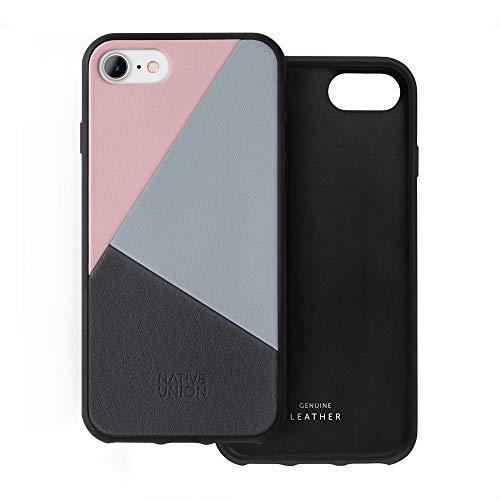 Native Union CLIC Marquetry Hülle - Echtem Italienischem Nappaleder für iPhone SE 2020, iPhone 7, iPhone 8 (Rose)