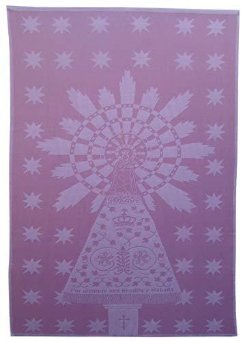 Futurmalla, Manta-Arrullo, Imagen Virgen del Pilar de Zaragoza (Única 132x93 cms, Rosa-Rosa Claro)