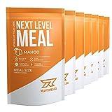 Runtime Next Level Meal Mango - vollwertiger Mahlzeitersatz fr langanhaltende Sttigung, Energie, Konzentration und Leistungsfhigkeit, mit Vitaminen und Nhrstoffen, 7 x 150g