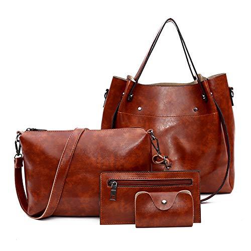 YYZZ Kindertasche Frauentasche vierteilige Handtasche Umhängetasche Diagonale Paket