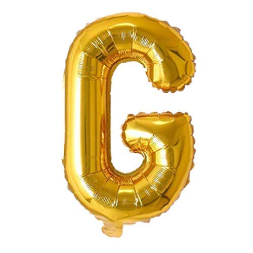 AMAZING DEAL Foil Balloon Alphabets for Party Decoration - 16 inch Golden or Silver Color Foil Letters & Numbers - Choose Alphabets/Numbers-Make Your Own Custom Phrase for Party - SHAPE G