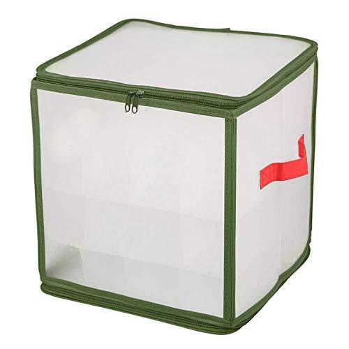 Btruely Robuste Aufbewahrungsbox für Weihnachtsschmuck, Organizer-Tasche mit Griffen - Bewahren Sie bis zu 64 Standard-Weihnachtskugeln Und Weihnachtsdekoration Sicher auf (Grün)
