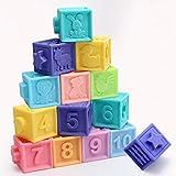 Tookss 10 x Baby-Greifspielzeug-Bausteine, 3D-Touch-Hand-Baby-Massage-Bad-Ball, Quetsch-Spielzeug, 10 Stück pro Set