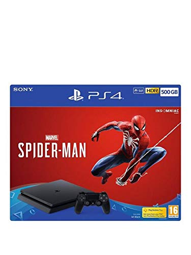 PS4 Slim 500Go Console Playstation 4 Noir + Spiderman
