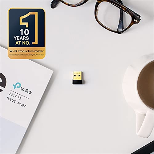 TP-Link Nano AC600 USB Wi-Fi WiFi Adapter(Archer T2U Nano)- 2.4G/5G Dual Band Wireless Network Adapter for PC Desktop, Mini Travel Size, Supports Windows 10, 8.1, 8, 7, XP/Mac OS X