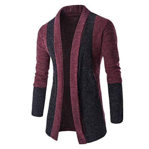Hommes Cardigan de Transition pour Hommes à Capuche Coupe Longue Simple Casual 2021 Nouveau Top Slim Fit Cardigan pour Hommes Sweat-Shirt décontracté M