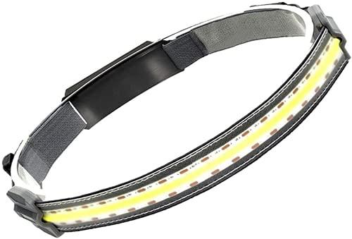 2021 New Hi-Beam Work Light Headband, Portable Mini Headlight, Great for Camping, Hunting, Runners, Hiking, Outdoors, Fishing,Industrial Purpose