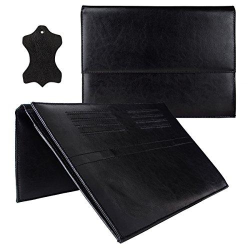 eFabrik Leder Tasche für Sony Xperia Z4 Tablet (10,1') Schutz Hülle Hülle Cover Sleeve Zubehör Schwarz