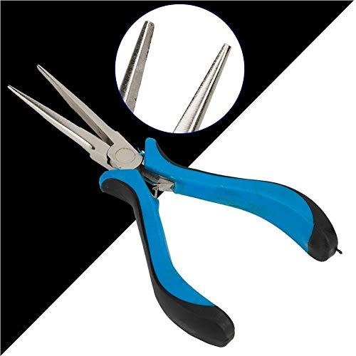Alicates de joyería, alicates de punta de aguja para hacer joyas, kit de fabricación de pendientes duraderos, kit de fabricación de joyas, para joyería de bricolaje