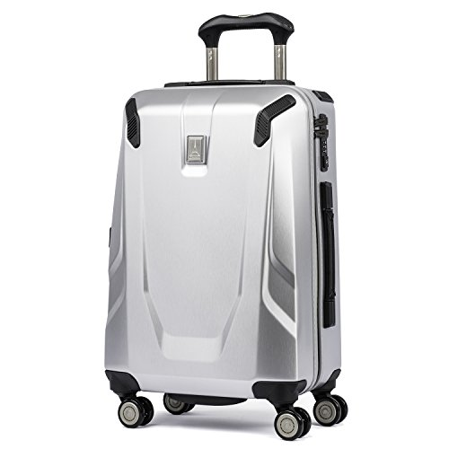 Travelpro Luggage Crew 11 21' Carry-on Slim Hardside Spinner with USB Port, Silver