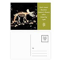 小型の恐竜の骨化石 詩のポストカードセットサンクスカード郵送側20個