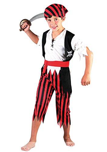 Fiori Paolo-Corsaro Costume Bambino, Rosso, L (7-9 anni), 61207.L