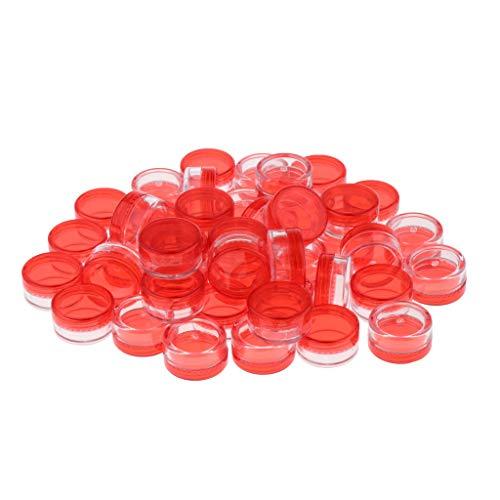 50pcs Pot Vide Récipient Cosmétique avec Couvercle pour Échantillon de Crèmes Stockage de Maquillage, Bocaux DIY Rouge à Lèvres,5 g - vert