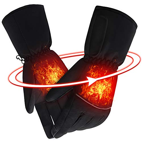 SVPRO Electric Heated Gloves Rechargeable Battery Powered Gloves Men Women Heating Hand Warmer Warm...