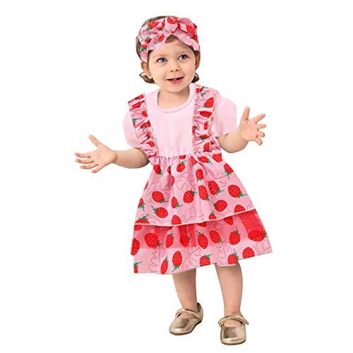 Pistazie - Conjunto de bebé niña con manga larga y diadema a rayas, vestido de bebé niña de manga larga de algodón y malla floral, vestido de fiesta boda rosa XS