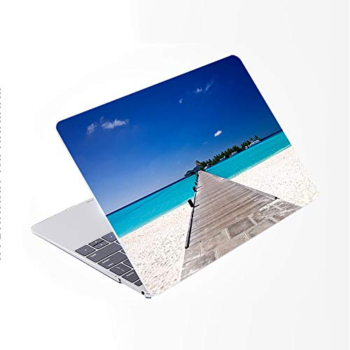 SDH Older for MacBook Air 13 Case (Model: A1369 / A1466, 2010-2017 Release), Plastic Hard Shell & Gradient Keyboard Skin Cover & Dust Plug Compatible with 13 inch for MacBook Air, Beach Scenery 2