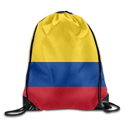Daisylove Bandera de Colombia Lindo Gimnasio Cordón Bolsas Mochila de Viaje Mochila Escolar Mochila